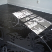 Julie Chang: Untitled - Floor Painting at the Headlands Center for the Arts, 2007